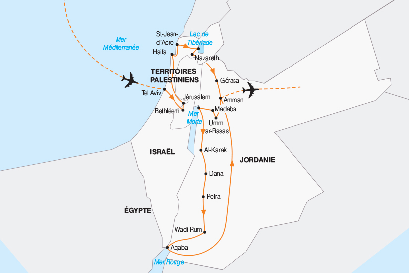 carte Israel Joyaux d Israel et de Jordanie 2018_267 805427