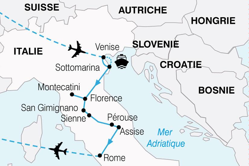 carte Italie Escapade Italienne 623623