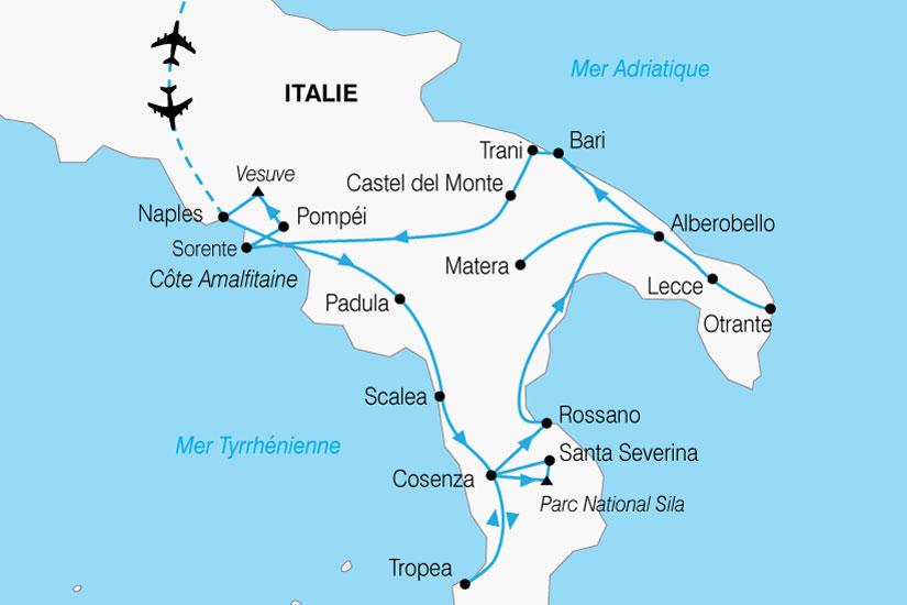 carte Italie Grand Sud 849075