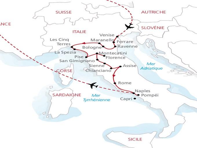 Carte Italie Grand Tour 276660