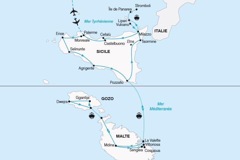 carte Italie La Sicile et Malte savoureux cocktail mediterraneen SH20_339 355895