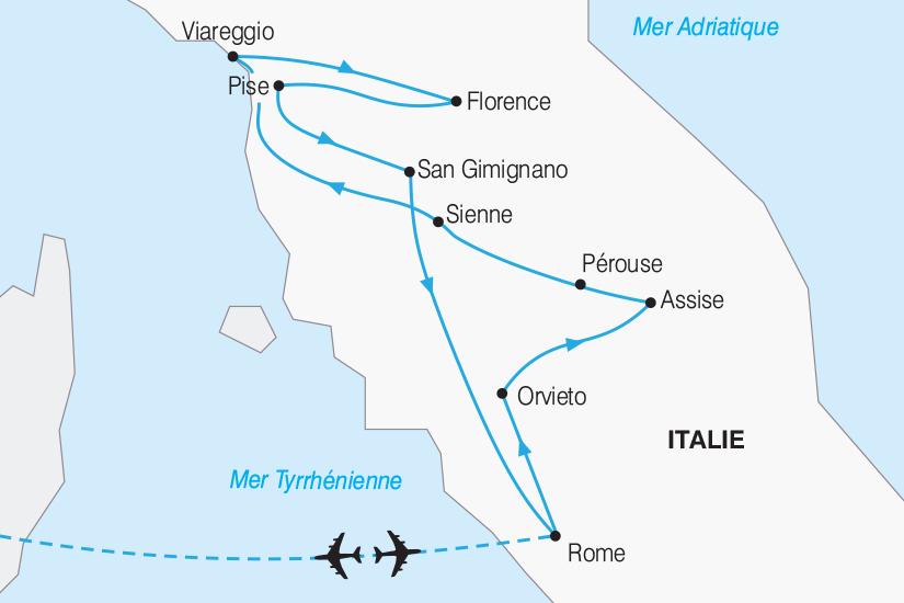 carte Italie La Toscane et Rome 2019_292 784908