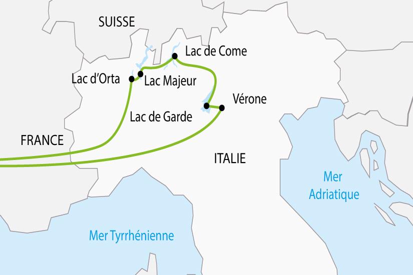 carte Italie Lacs Italiens Verone depart sud 2019_297 439088