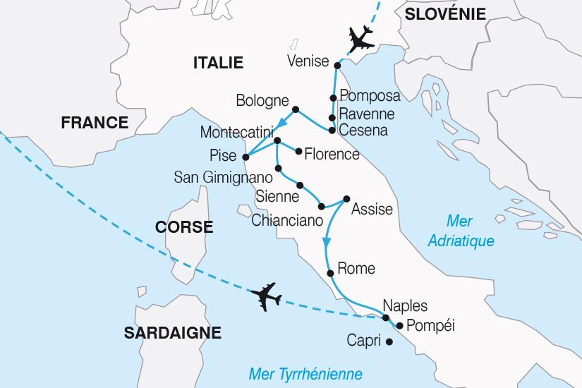 carte Italie Le Grand Tour d Italie SH20_339 438230