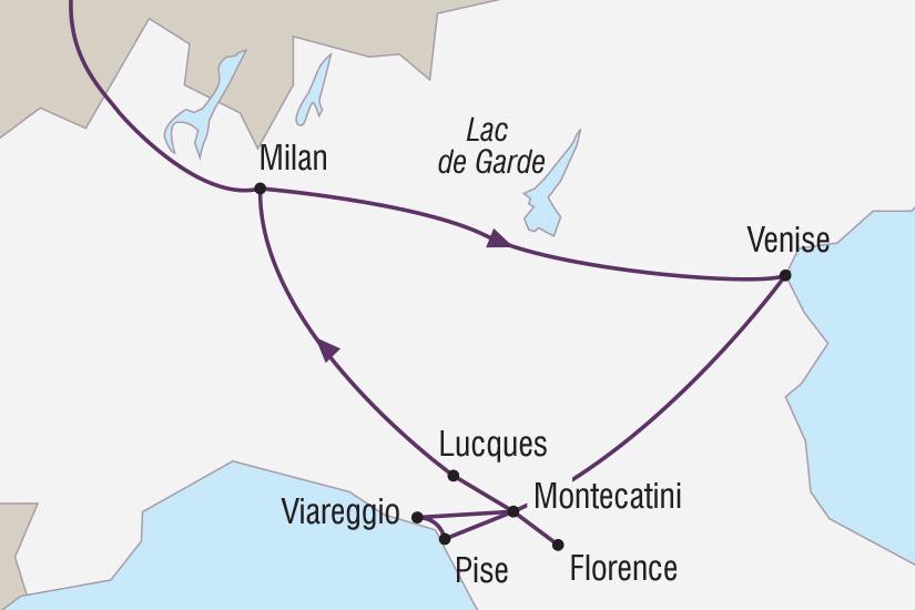 carte Italie Les extraordinaires Carnavals de Venise et de Viareggio_306 641049