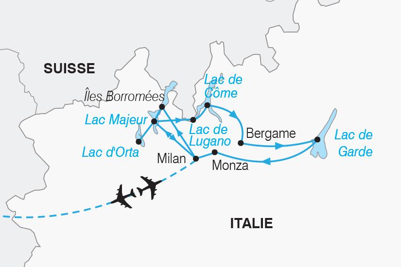 carte Italie Les plus beaux Lacs d Italie SH19 20_319 359973