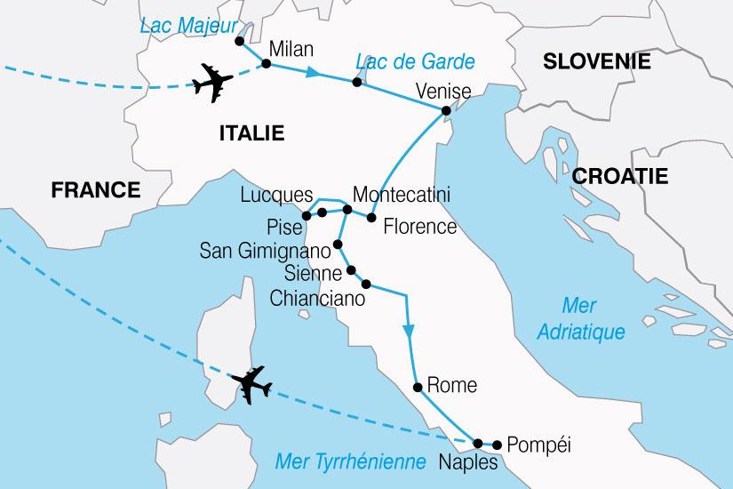 carte Italie LesTresors 867990