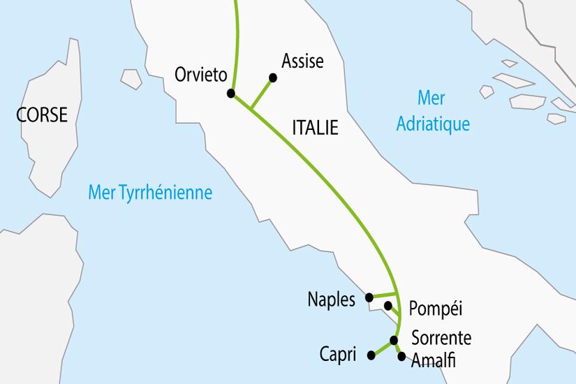 carte Italie Naples Cote Amalfitaine depart sud 2019_297 823571