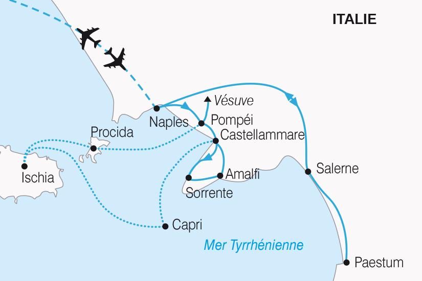 carte Italie Naples la plus belle Baie au Monde SH20_339 864050