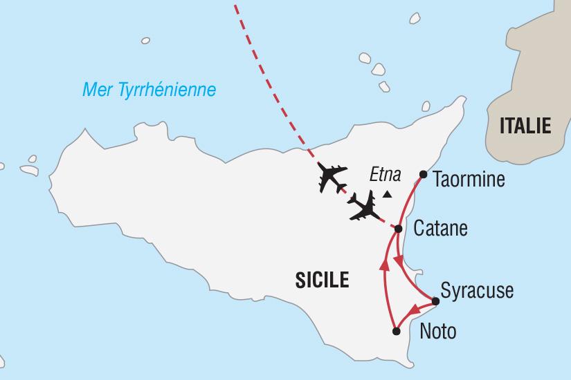 Carte Sicile Aeroport.Circuit En Italie Reveillon De La Saint Sylvestre En
