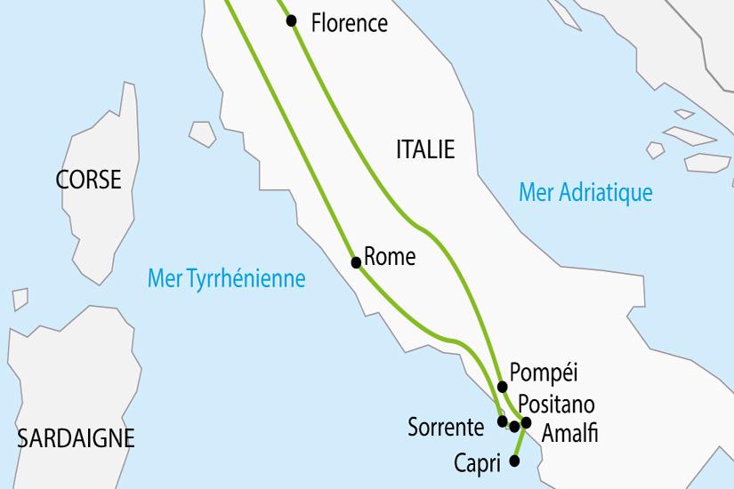 carte Italie Rome Italie du Sud Florence depart sud 2019_297 866800