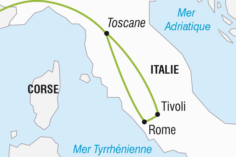 carte Italie Rome Le Vatican et Tivoli SH SUD19 20_321 405437