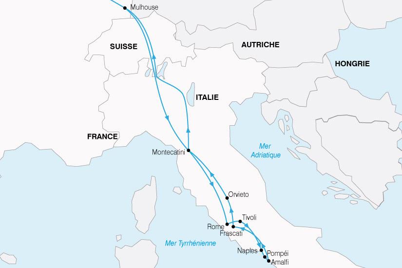 carte Italie Rome Sud Italie 280490