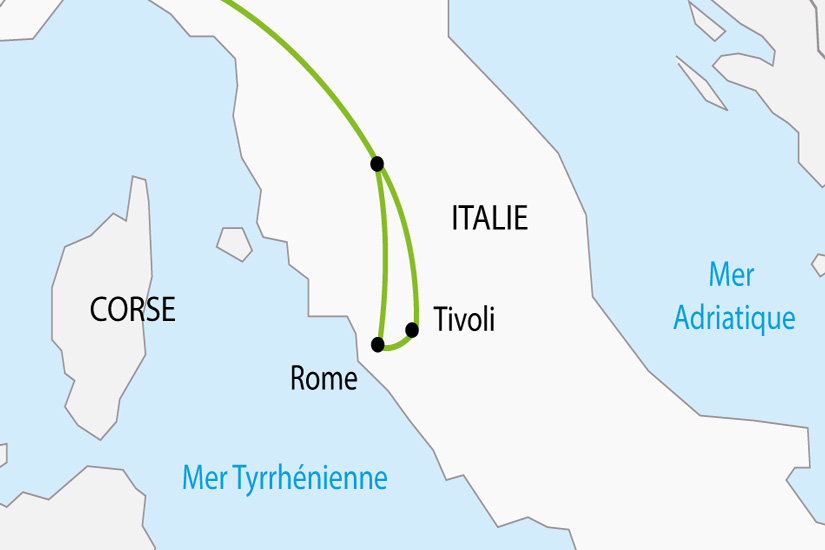 carte Italie Rome Vatican Tivoli depart sud 2019_297 802593