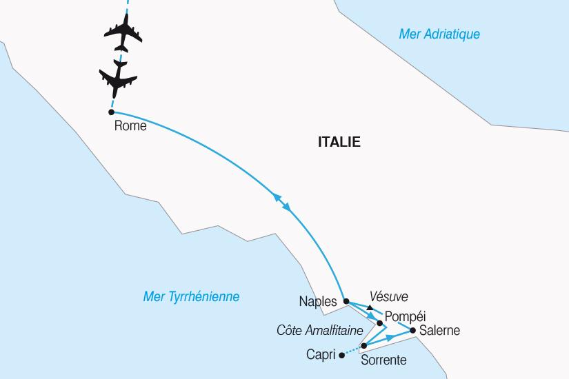 carte Italie Rome et la merveilleuse Baie de Naples SH20_339 277815