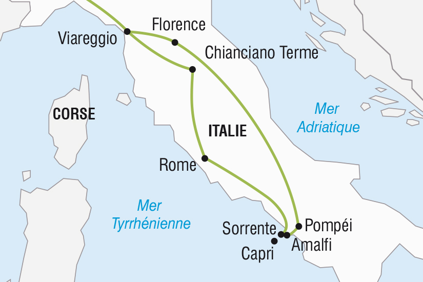 carte Italie Rome l Italie du Sud et Florence SH SUD19 20_321 189432