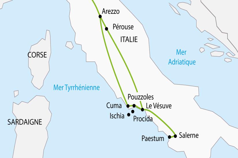carte Italie Secrets Italie du Sud depart sud 2019_297 483302