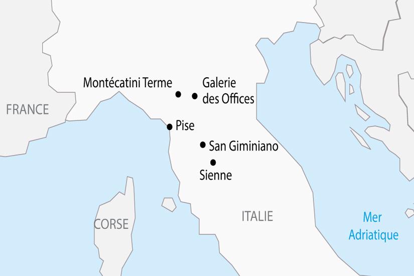 carte Italie Toscane Florence Galerie des Offices depart sud 2019_297 125018