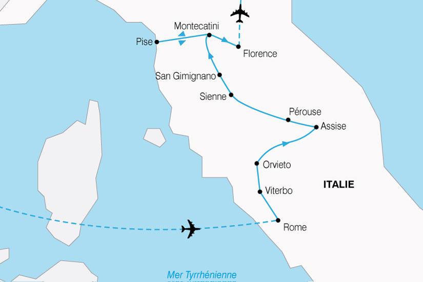 carte Italie Toscane Rome 460623