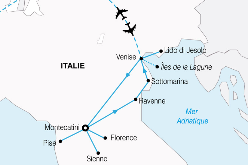 carte Italie Venise Toscane 100044