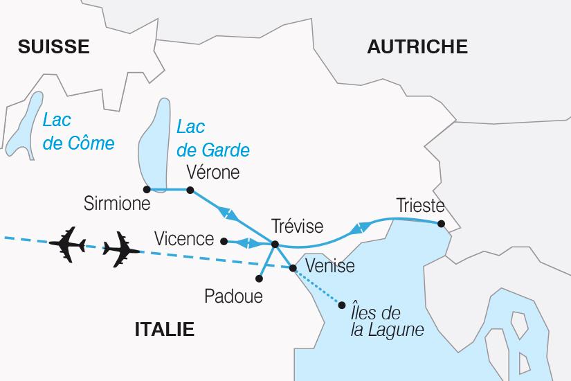 carte Italie Venise et les Joyaux de la Venetie SH19 20_319 517704