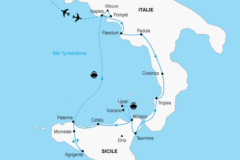carte Italie Vesuve Etna 189568