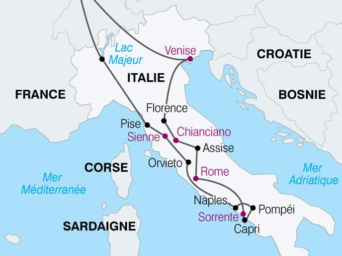 Carte Italie Et Sardaigne.Italie Assise Carte Stopeads