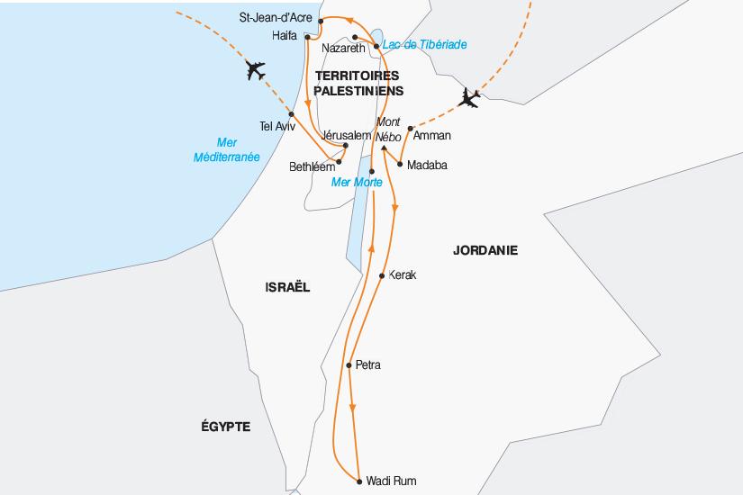carte Jordanie Israel tresors d Orient 2019_292 878512