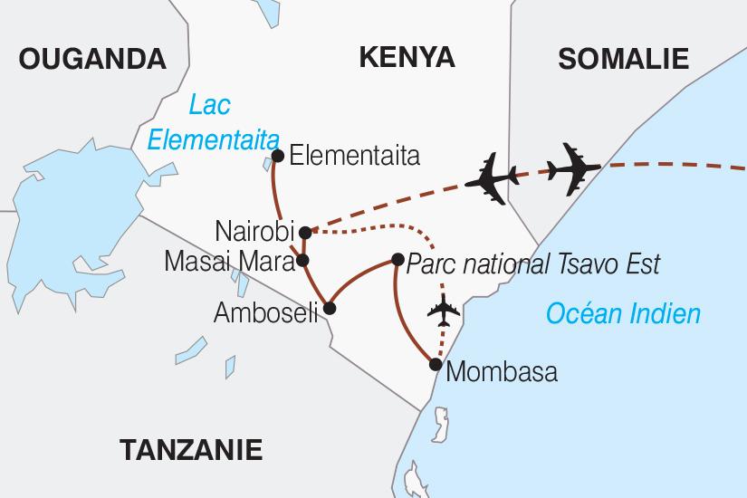carte Kenya Kenya Couleurs d Afrique 267 633060