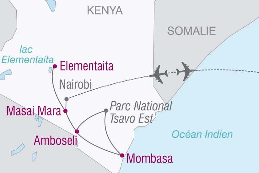 carte Kenya Rendez vous terre Masai 496293
