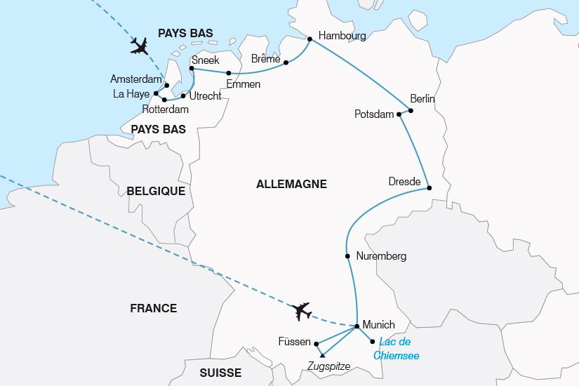 carte Les Pays Bas et l Allemagne SH19 20_319 146552