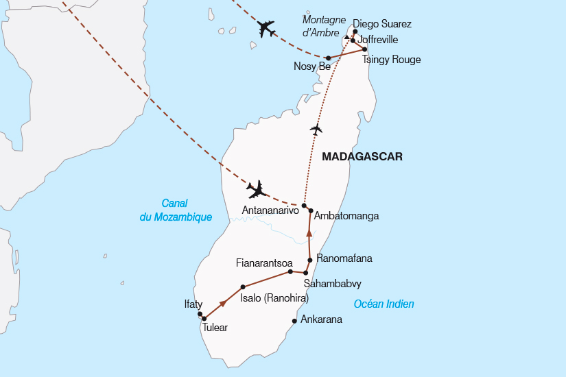 carte Madagascar Le Grand Tour de l ile Rouge SH19 20_319 293067