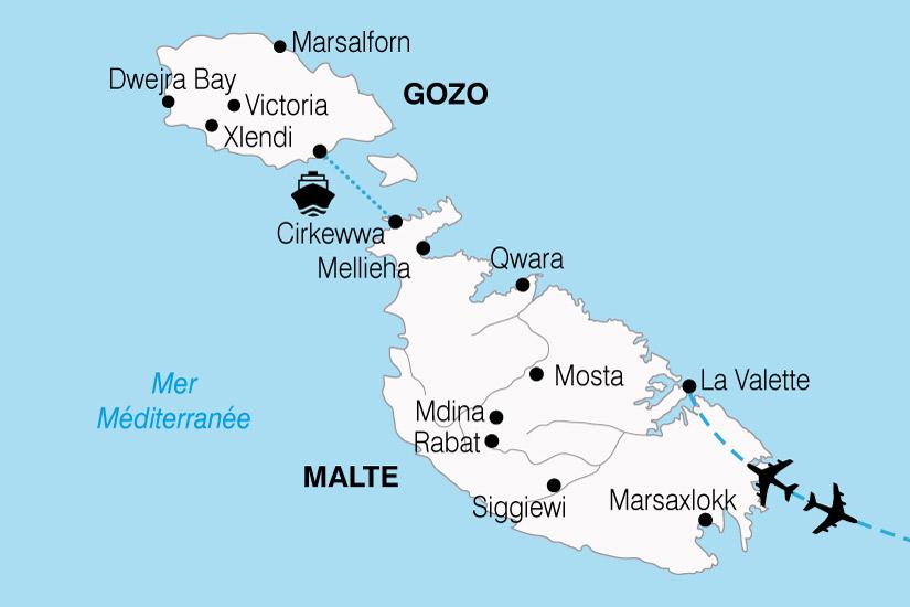 carte Malte Ile Chevaliers 860448