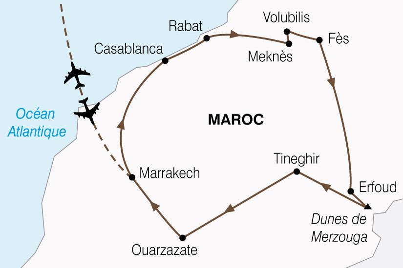 carte Maroc Cites Imperiale  Magie Sud 104203