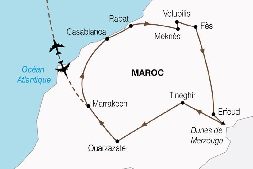 carte Maroc Cites Imperiales Magie Sud 572190
