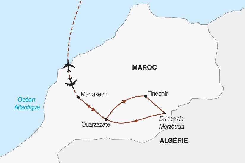 carte Maroc De Marrakech a Mergouza en 4x4 2018_267 787936
