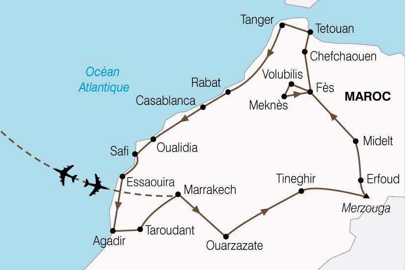 carte Maroc Grand Tour 181156