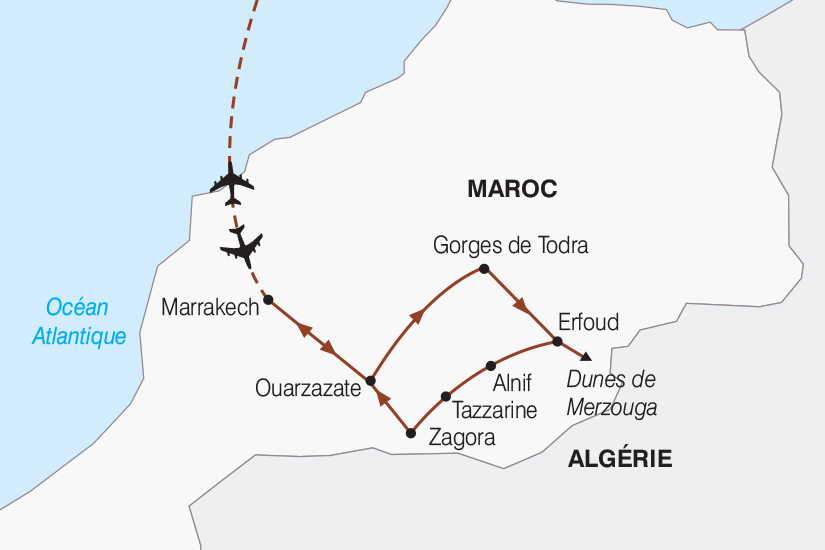 carte Maroc Le Sud Marocain 2019_292 303796