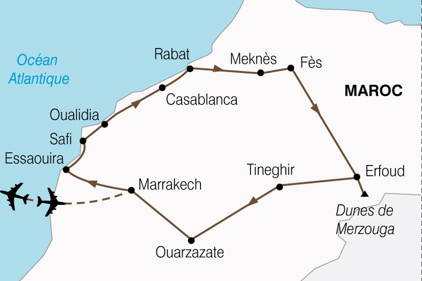 Carte Maroc Splendeurs Marocaines 437384