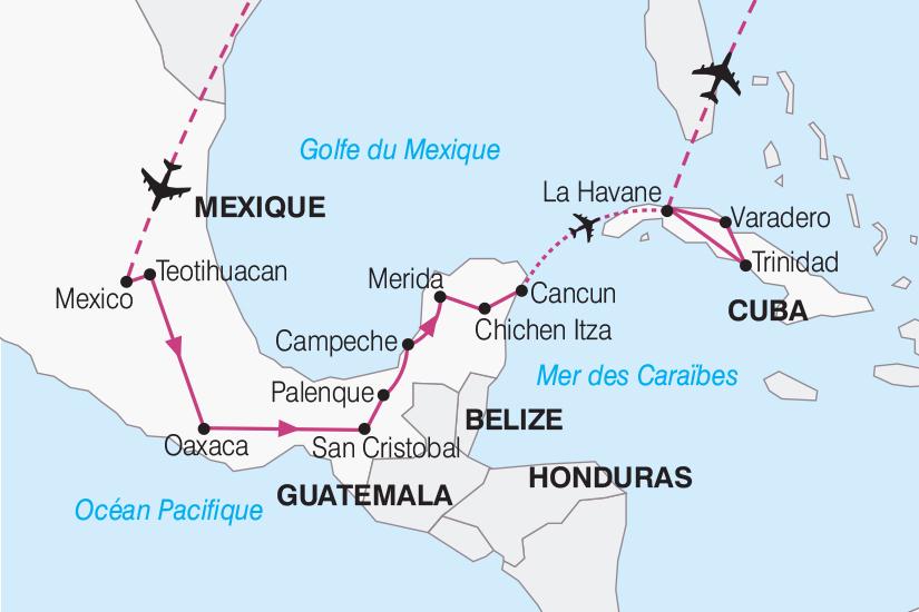 carte Mexique Cuba De Mexico a La Havane 2019_292 172910