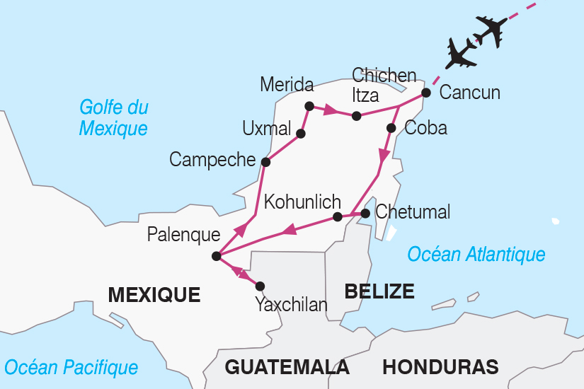 carte Mexique Le Yucatan escapade en Terre Maya SH19 20_319 486643