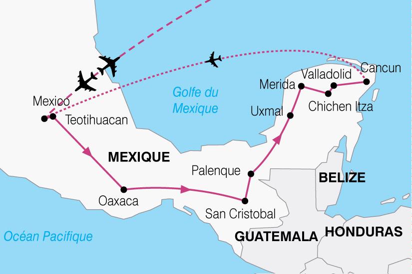 carte Mexique Merveilles 630032
