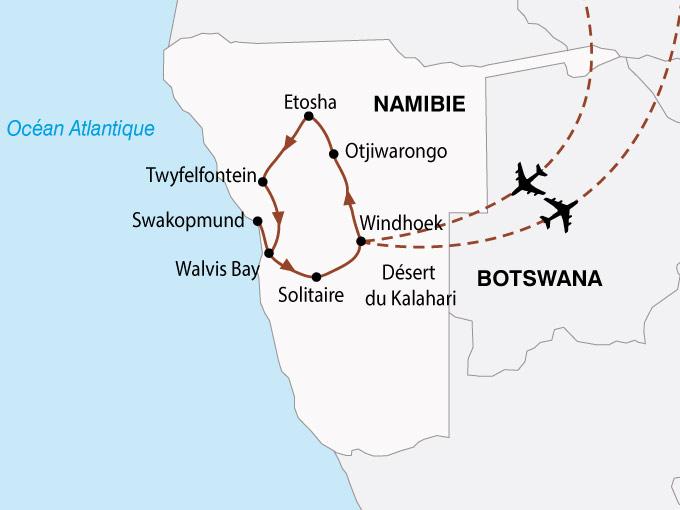 carte Namibie Aventure Nambienne 827913