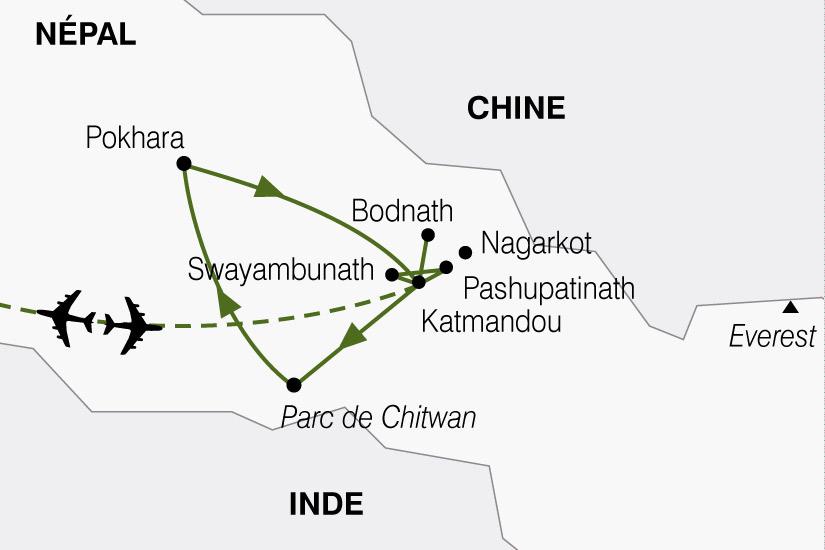 carte Nepal Joyaux Himalaya 841651