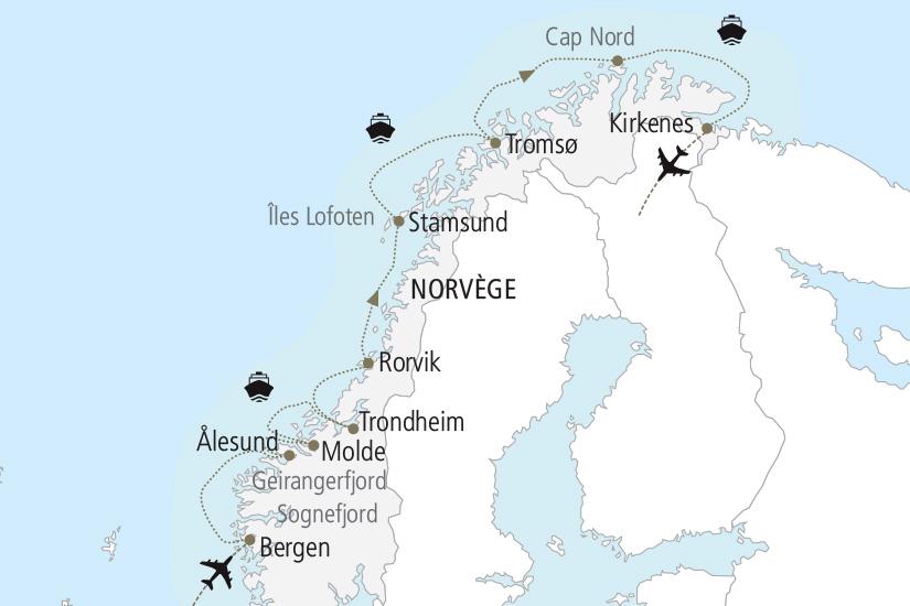 carte Norvege La Norvege le plus beau littoral du monde Nordiska 19_285 702946