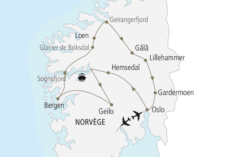 carte Norvege Les plus beaux Fjords Nordiska 19_285 893996