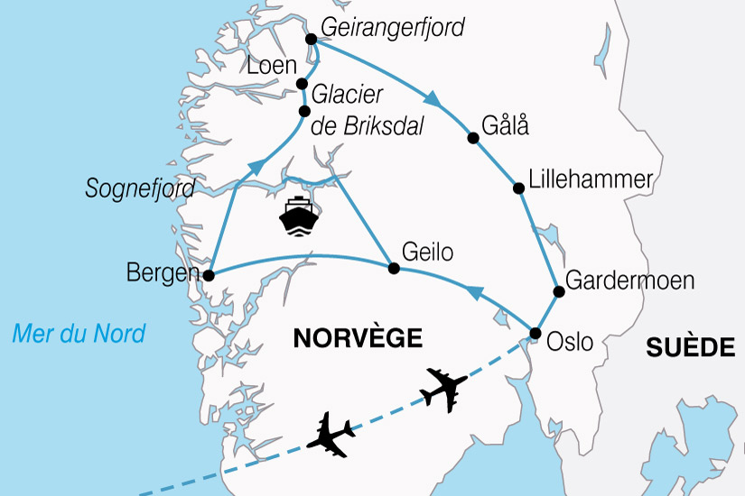 carte Norvege Plus Beaux Fjords 821092