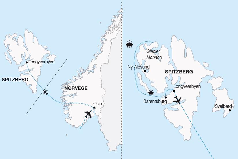 carte Norvege Svalbard Aux Confins de l Arctique Le Spitzberg 2019_292 302703