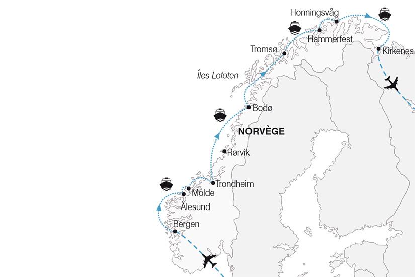 carte Norvege_Croisiere Boreale_267 898814