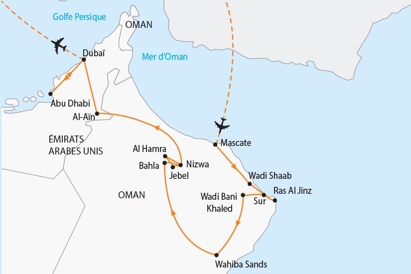 carte Oman Emirats charmes de l Orient SH19 20_319 593988